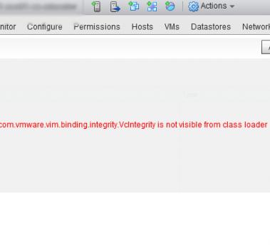How to fix: vSphere VUM: GUI error that prevents upgrades!