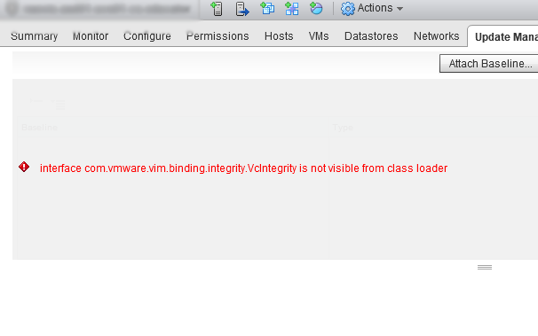 vSphere VUM GUI error that prevents upgrades!