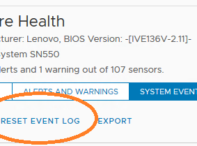 Clearing ESXi System Event Log (SEL) via PowerCLI