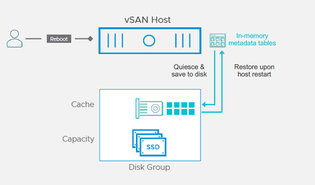 vSAN faster host reboot process