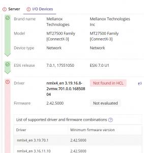 Using Runecast to fix missing NIC in ESXi